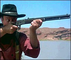 The Duke with his 1892 Winchester