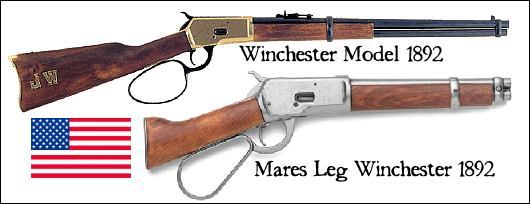 1892 Winchester Large Loop, and Mares Leg