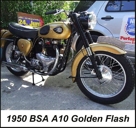 1950-1961 BSA Golden Flash motorcycle