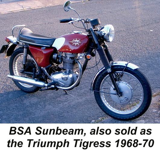 1968-1970 BSA Sunbeam motorcycle
