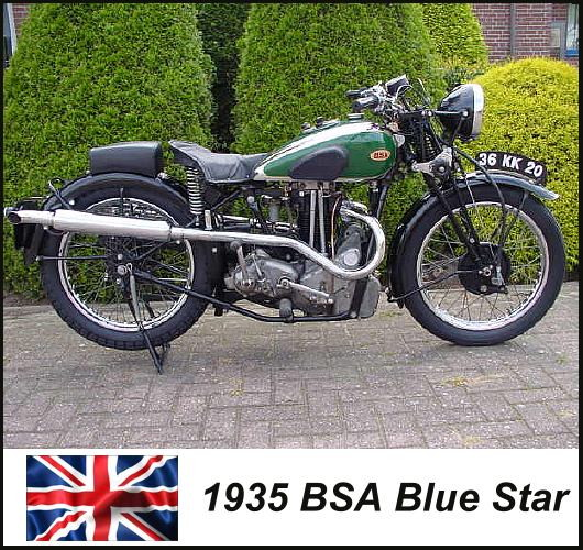 1935 BSA Blue Star motorcycle