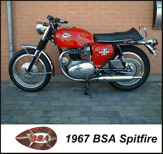 1967 BSA Spitfire motorcycle