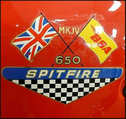 Closeup BSA Spitfire motorcycle detail