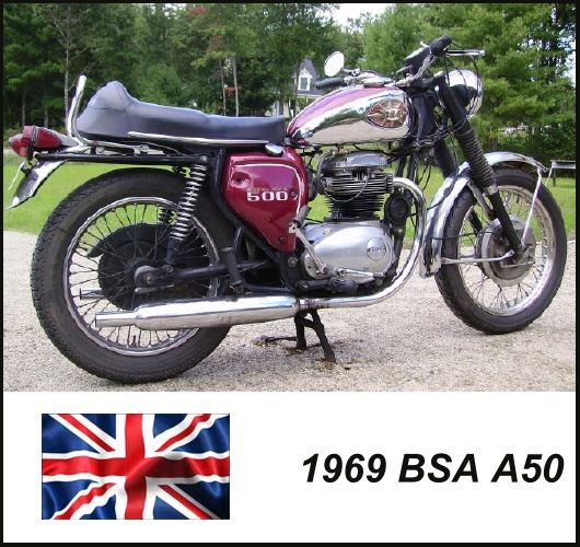 1969 BSA A50 Motorcycle