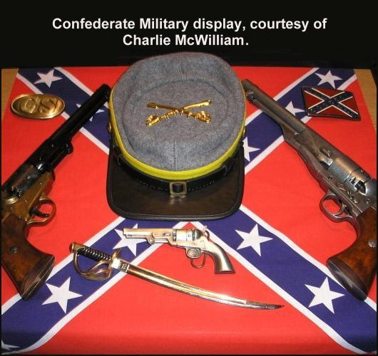 Confederate Military Display with Colt percussion revolver.