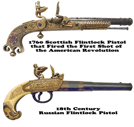 Fancy, Decorative Flintlock Pistols of the 17th, 18th and