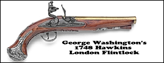 George Washington's 1748 Hawkins Pistol from London