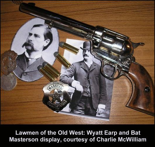Old West display theme with Wyatt Earp and Bat Masterson.